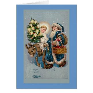 """""""Vintage französische Weihnachtskarte """" Karte"""