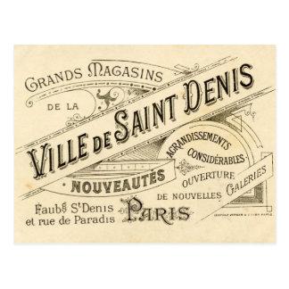 Vintage französische Werbung Postkarten