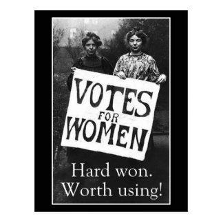 Vintage Frauen-Abstimmungs-Postkarte Postkarte