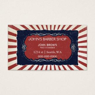Vintage Friseur businesscards mit Visitenkarte