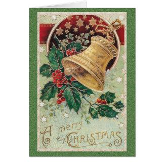 Vintage frohe Weihnachten Weihnachtsbell Karte