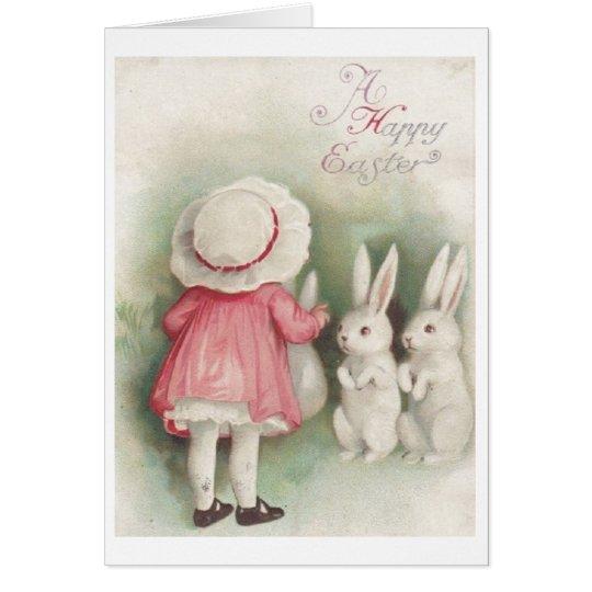 Vintage fröhliche Ostern! Vintage Grußkarte
