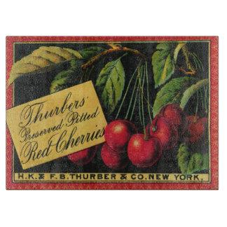 Vintage Frucht-Kisten-Aufkleber-Kunst, Thurber Schneidebrett