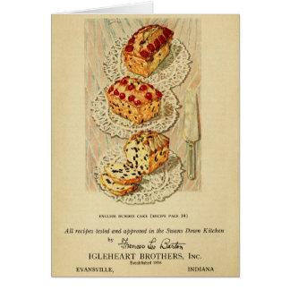 Vintage Fruchtkuchenillustration Karte