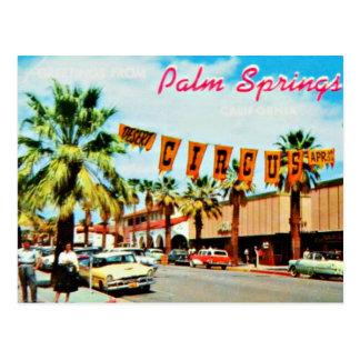 Vintage Fünfzigerjahre Palm- Springpostkarte Postkarte