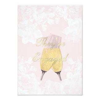 Vintage Gardenia Peche Verlobungs-Einladung 12,7 X 17,8 Cm Einladungskarte