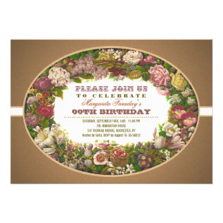 Vintage Geburtstagseinladungen der viktorianischen