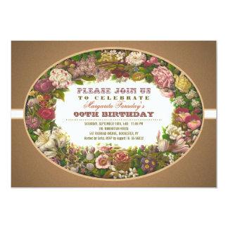 Vintage Geburtstagseinladungen der viktorianischen 12,7 X 17,8 Cm Einladungskarte