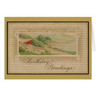 Vintage Geburtstagsgrüße Karte