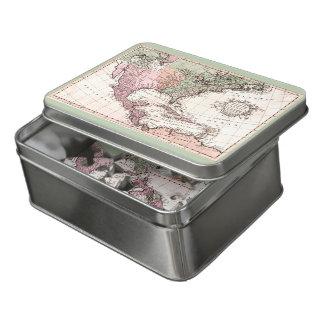 Vintage Geografie-neue Weltkarte Puzzle