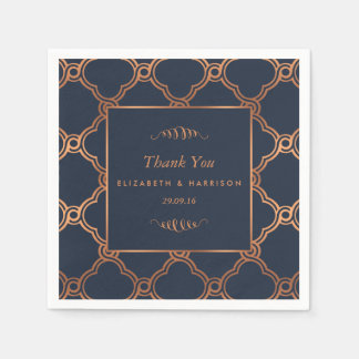 Vintage geometrische Kunst-Deko Gatsby Hochzeit Papierservietten