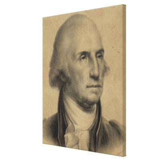Vintage George- Washingtonporträt-Illustration Leinwanddruck