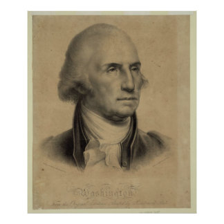 Vintage George- Washingtonporträt-Illustration Poster