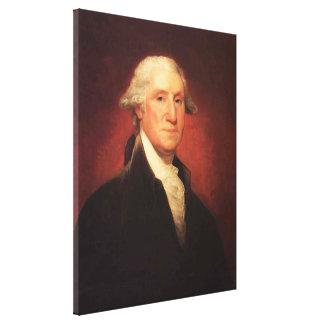 Vintage George- Washingtonporträt-Malerei Leinwanddruck