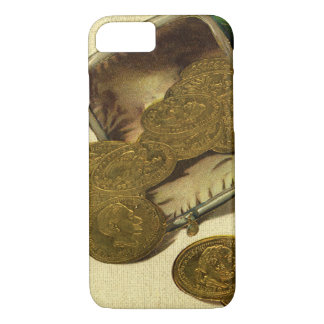 Vintage Geschäfts-Finanzierung, Goldmünze-Geld im iPhone 8/7 Hülle
