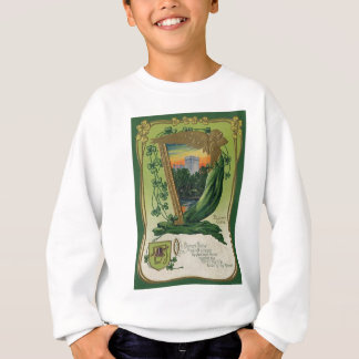 Vintage Geschwätz-Schloss-St Patrick Gruß-Karte Sweatshirt