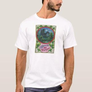 Vintage Geschwätz-Schloss-St Patrick Tageskarte T-Shirt