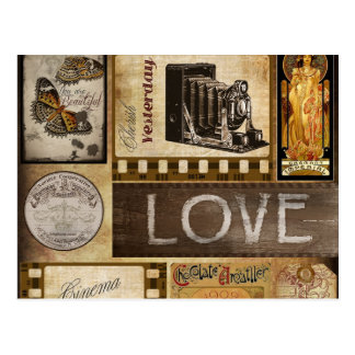 Vintage Gestern-Liebe-Frauen-Kino-Schokolade Postkarte