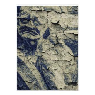 Vintage Goth Holzkohle, die Statue zeichnet 12,7 X 17,8 Cm Einladungskarte