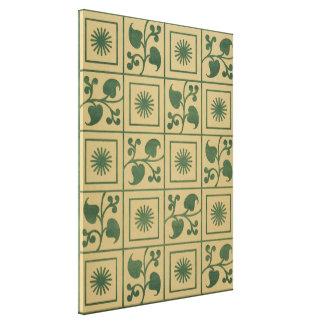 Vintage grüne Reben, Blätter und Leinwanddruck