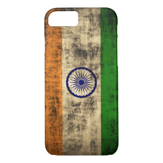 Vintage Grunge-Flagge von Indien iPhone 8/7 Hülle