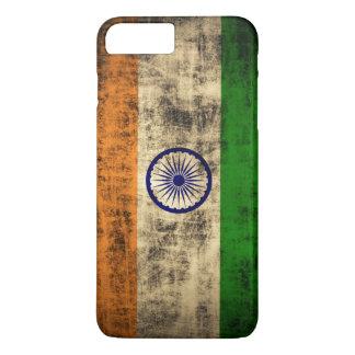 Vintage Grunge-Flagge von Indien iPhone 8 Plus/7 Plus Hülle
