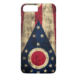 Vintage Grunge-Ohio-Staats-Flagge iPhone 8 Plus/7 Plus Hülle