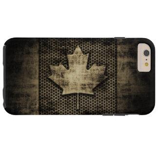 Vintage Grungy Metallblick-Kanadier-Flagge Tough iPhone 6 Plus Hülle