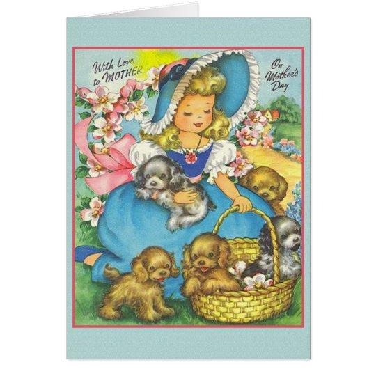 Vintage Gruß-Karte der Mutter Tages Grußkarte