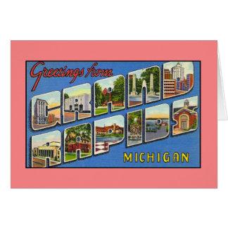 Vintage Grüße von Grand Rapids MI Karte