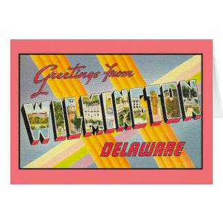 Vintage Grüße von Wilmington De Karte