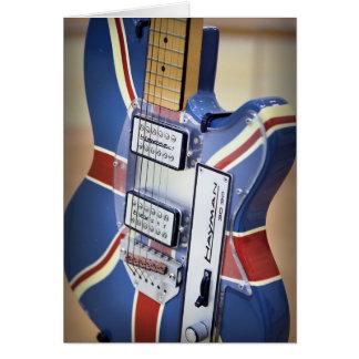 Vintage Grußkarte der elektrischen Gitarre