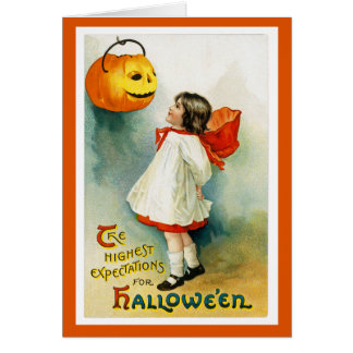 Vintage Halloween-Gruß-Karte Karte
