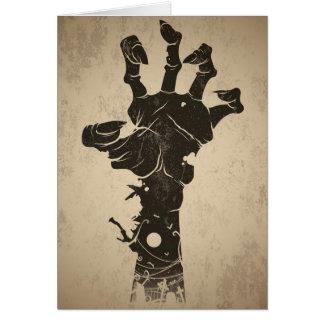 Vintage Halloween-Ikone - Zombie-Hand Grußkarte