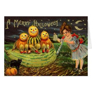 Vintage Halloween-Karte Karte