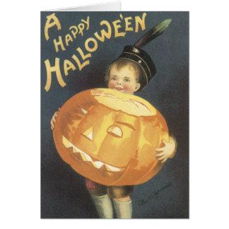 Vintage Halloween-Karten Grußkarte