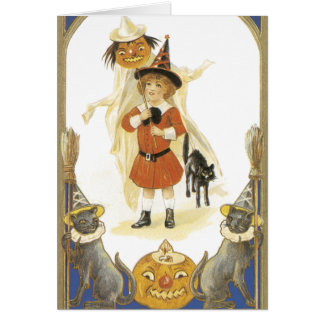 Vintage Halloween-Karten Karte