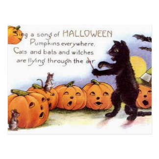 Vintage Halloween-Kunst-Postkarte Postkarte