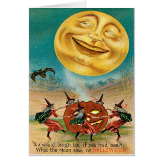 Vintage Halloween-Postkarte Karte