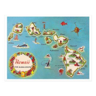 Vintage hawaiische Karte Postkarten