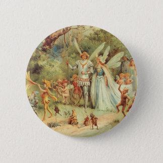 Vintage Heirat von Thumbelina und von Prinzen Runder Button 5,7 Cm