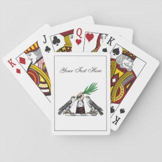 Vintage heraldische Falken mit HandWappen-Emblem Spielkarten