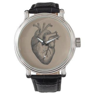 Vintage Herz-Illustration Uhr
