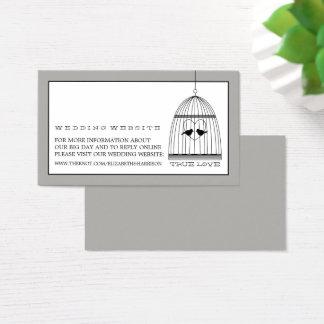 Vintage Herzbirdcage-Hochzeits-Website Visitenkarte