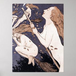 Vintage Hexen - Walpurgis durch Adolf Munzer Poster