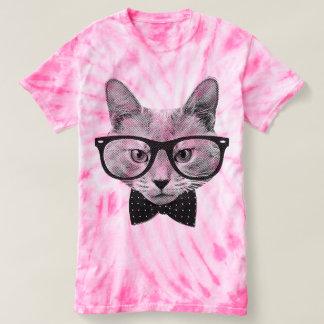 Vintage Hipsterkatze T-shirt