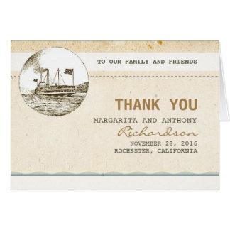 Vintage Hochzeit der Kreuzfahrt danken Ihnen Karte