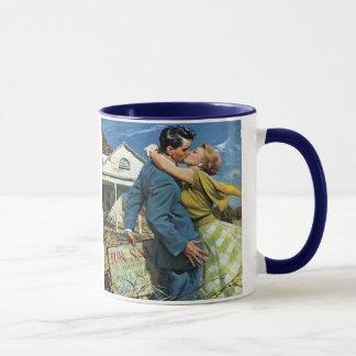 Vintage Hochzeit, Jungvermählten-Kauf-erstes Haus Tasse