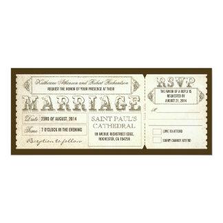 Vintage Hochzeit Karten u. UAWG 10,2 X 23,5 Cm Einladungskarte