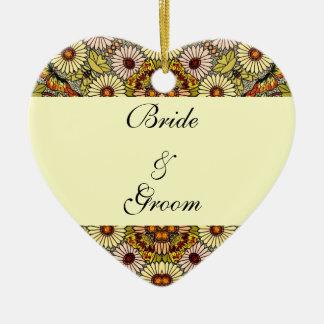 Vintage Hochzeit, Keramik Ornament